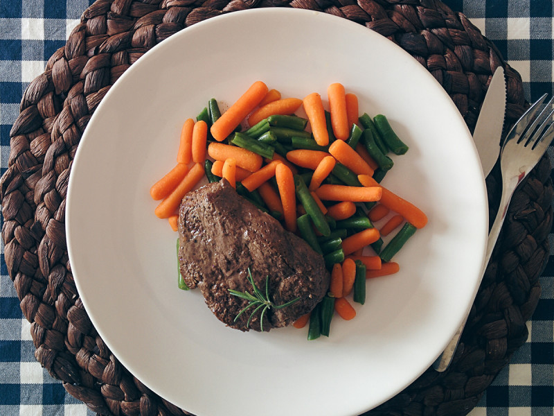 Beef with carrot